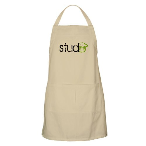 STUD MUFFIN -- Outdoors / Cooking Apron by CafePress - Khaki