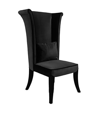 Armen Living Mad Hatter Dining Chair, Black Velvet