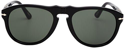 persol-mens-0po0649-95-31-52-aviator-sunglassesblack-frame-green-lensone-size