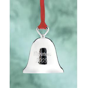 Reed and Barton Engraved Christmas Ornament 3″ Annual Bell * 2005 *