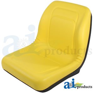 A & I Products Seat, YLW Parts. Replacement for John Deere Part Number LVA10029 (John Deere Lawn Mower Seat compare prices)