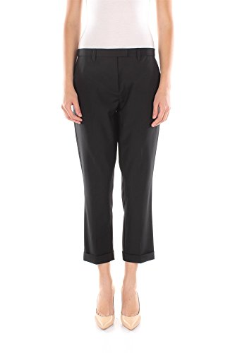 Pantaloni Twin-Set Donna Poliestere Nero e Argento P2S5WB00006 Nero M