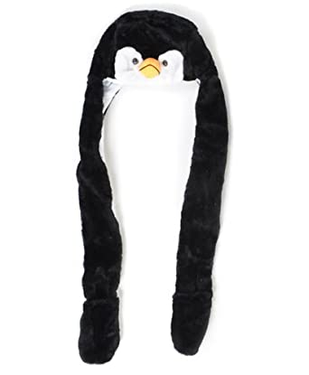 'Hat-imals' Plush Animal Winter Hats with Paws (Collection 4), Penguin