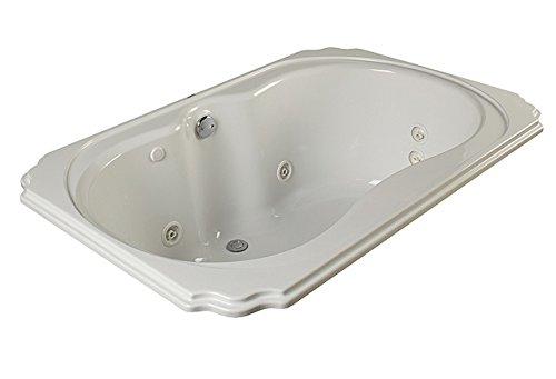 Prime Gemline Ruby 42 X60 Drop In Whirlpool 8 Jet White Machost Co Dining Chair Design Ideas Machostcouk