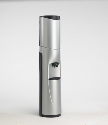 Pacifik Water Cooler - Silver with Black Trim - Hot/Cold - High Flow Faucets - Made in North America - 5 Year Warranty