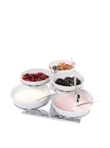 Pordamsa Set of 6 Porcelain Bowls with a Rotary Display