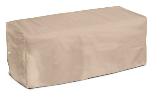 Koverroos Weathermax 44214 6-Feet Garden Seat Cover, 72-Inch Width By 28-Inch Diameter By 18-Inch Height, Toast front-723662
