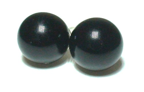 Black Medium Size Classic Stud Earring Fashion Jewelry Collection