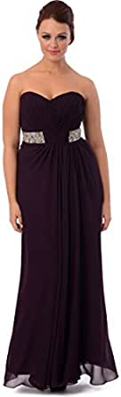 Goddess Long Gown Prom Dress Bridesmaid, XS, Black