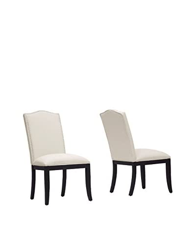 Baxton Studio Set of 2 Tyndall Linen Dining Chairs, Beige