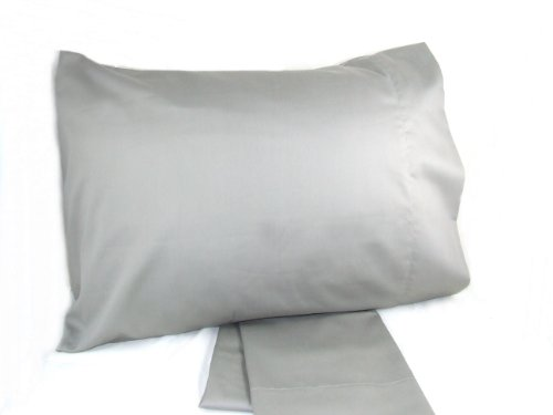 GRAY STANDARD Pillowcase PAIR 100% cotton, 300 thread count by AB Lifestyles lifestyles of rich shameless