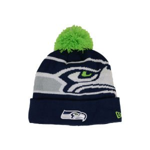 Seattle Seahawks New Era NFL Woven Biggie Cuffed Knit Hat at Amazon.com