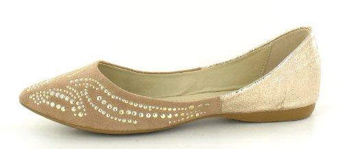 Spot On, Ballerine donna, Beige (beige), 38.5