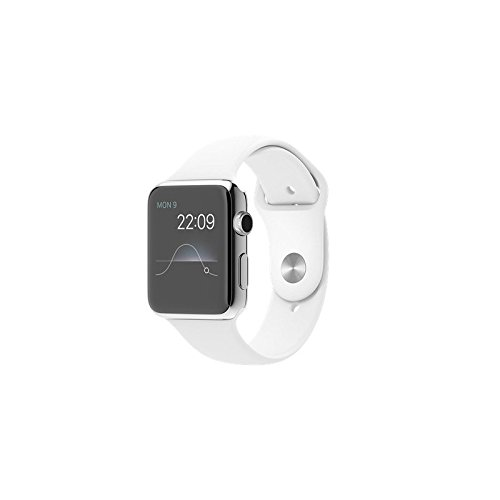 "Apple Watch Sport 42 mm - Smartwatch iOS de acero inoxidable (pantalla 1.65"", 8 GB, 520 MHz, 512 MB RAM), correa deportiva blanca"