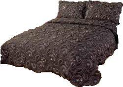 jasmine couvre lit dessus de lit 2 couvre oreillers perles 2 personnes 243 x 264 cm. Black Bedroom Furniture Sets. Home Design Ideas