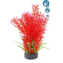 plante plastique rouge avec bulleur pour aquarium 20cm. Black Bedroom Furniture Sets. Home Design Ideas