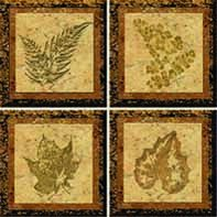 Fossil TileStix 4-Piece Peel and Stick Tile Décor