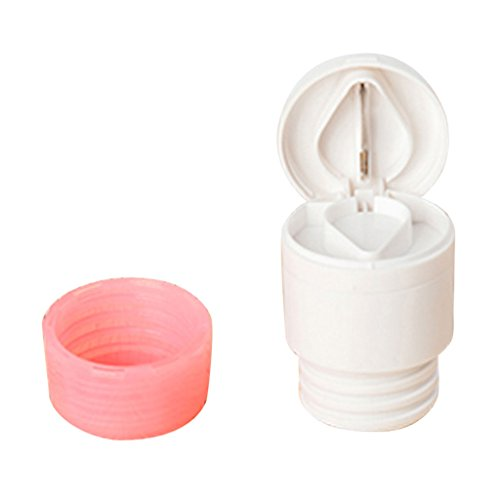 2-in-1 Round Pill Cutter Crusher Powder Tablet Medicine Tablets Cut Splitter Grinder Divider - Pink, L (Round Pill Cutter compare prices)