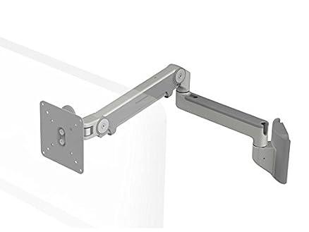 Humanscale m2hs2s supporto da parete con braccio orientabile (massima portata 9kg, altezza di regolazione: 254mm, portata del braccio: 508mm, VESA MIS-D) grigio