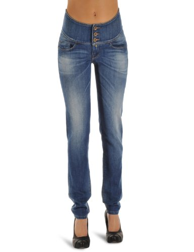 Salsa - Jeans slim, donna, Blu (Blau (EBCF)), 50 IT (36W/32L)