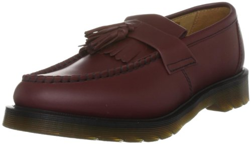 Dr. Martens Unisex-Adult Adrian Smooth Cherry Red Slip On Shoe 13843600 12 UK