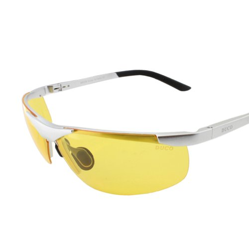 Duco Night Vision Glasses Anti Glare Driving Eyewear Polarized