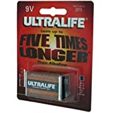 "Ultralife Lithium Batterie 9 Volt, E-Block, U9VL, U9VL-Jvon ""Ultralife"""