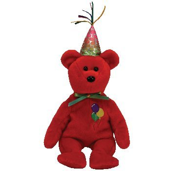 TY Beanie Babies Happy Birthday   - Happy Birthday Bear (Red)