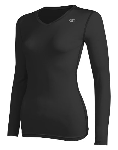 Champion Women's Double Dry Long Sleeve Compression Top, XS-Athletic Royal (Champion Long Sleeve Women compare prices)