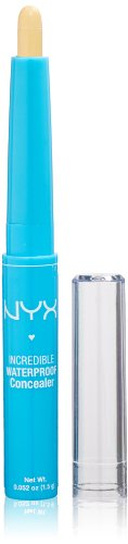 NYX Incredible Waterproof Concealer, Yellow, 0.052 Ounce