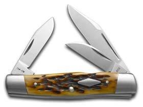 CASE XX Jigged Antique Bone Cattle Knife 154CM Stainless Pocket Knives