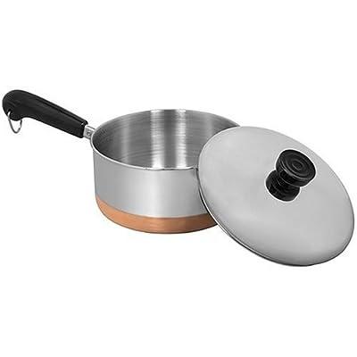 Revere Copper Bottom Covered Saucepan