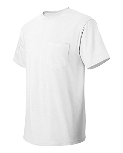 hanes-tagless-61-short-sleeve-tee-with-pocket-white-size-xl