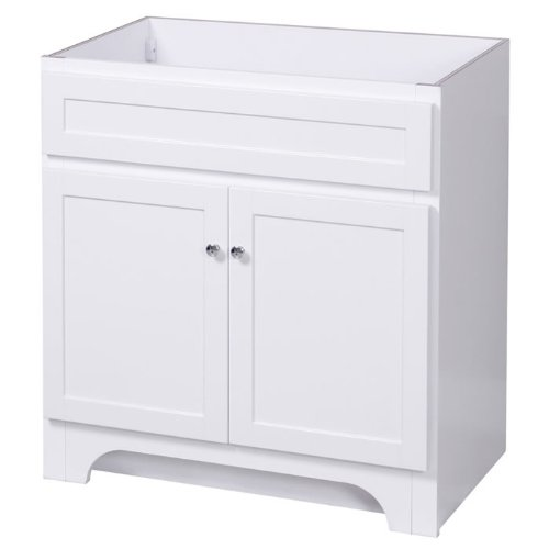 Foremost COWA3021 Columbia 30-Inch Bathroom Vanity with 2-Doors, White