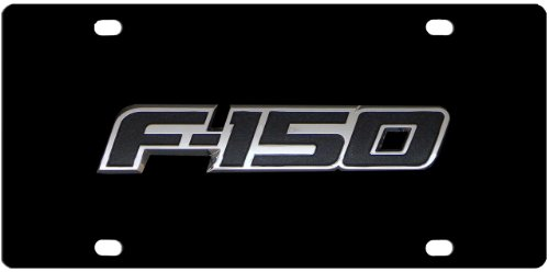 Ford F150 Black Stainless Steel License Plate Tag from Redeye Laserworks