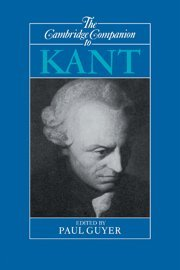 The Cambridge Companion to Kant, ed. Paul Guyer