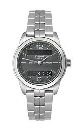 Tissot Women's T34.7.187.62 PR50 Stainless-Steel Black Dial Watch