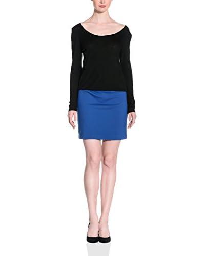 Silvian Heach Vestido Bekman Negro / Azul XS