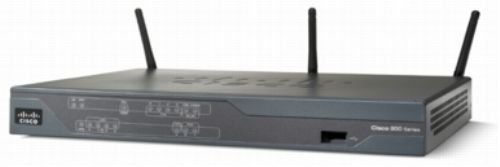 Cisco 892W GigaE - Router (HSRP, RIP-1, RIP-2, Ethernet, Fast Ethernet, Gigabit Ethernet, IEEE 802.11b, IEEE 802.11g, IEEE 802.11n, Telnet, SNMP 3, HTTP, HTTPS, SSH, 2 dBi, 256 MB, 512 MB) Gris