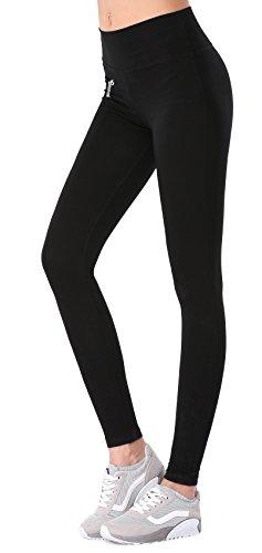 BAOMOSI Women's Workout Active Ankle Legging Reflex Power Flex Yoga Pants,Black,L (Crazy Sexy Cool Vinyl compare prices)
