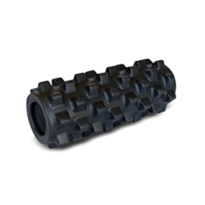 Rumbleroller Deep-Tissue Massage Roller, Black, 12.5-Inch by RumbleRoller