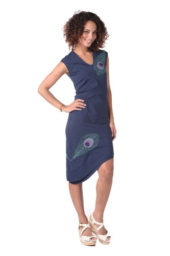 Peacock Nomad Dress Sapphire S front-454400