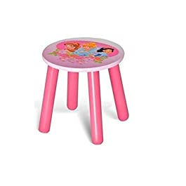 Juego de 2 (dos) de las princesas Disney taburete casa Club Play muebles para la habitación del bebé silla regalo rosa Step ideal para calcetines de Navidad Play habitación
