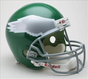 PHILADELPHIA EAGLES 1974-1995 Full Size Replica Football Helmet