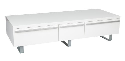 Iconic ESWH-UKT004 White Gloss 3 Door TV Stand