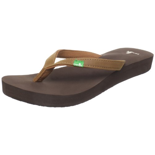 Sanuk Women's Nirvana Thong Sandal,Brown,7 M US