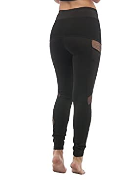 Fish net Mesh Side Active Wear Leggings