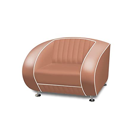 Belair - Sofa retro diner sf-01, color rosa