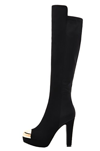 MOOLECOLE Lady Queen Fasion Clearance Knee-High Heels Knight Boots