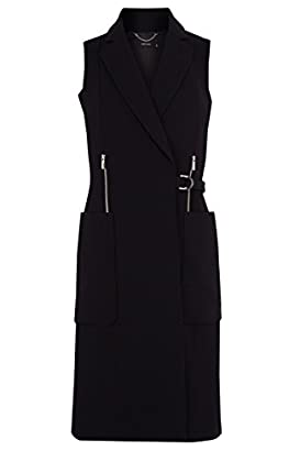 Softly tailored long line gilet